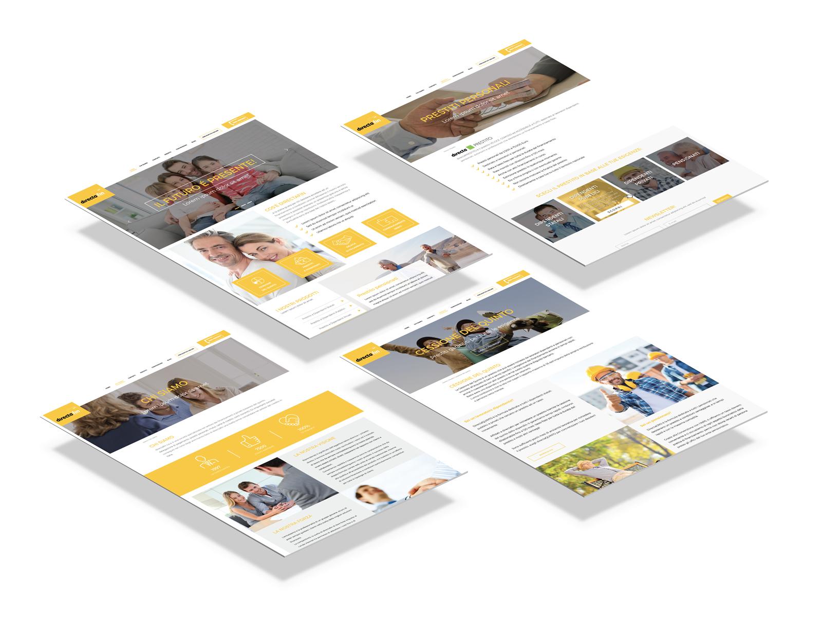 Directafin SPA - Credits Web Design sito responsive